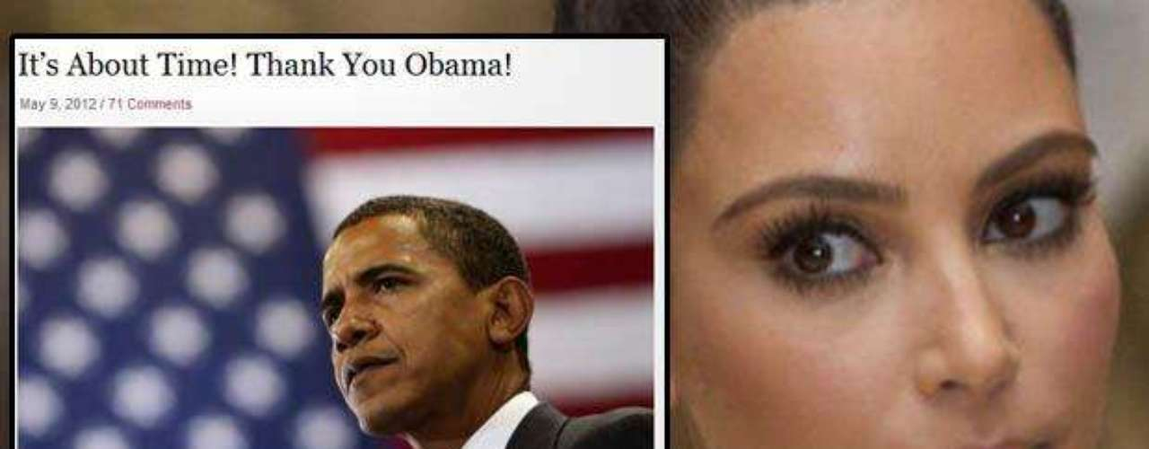 Kim Kardashian, a través de su blog: \
