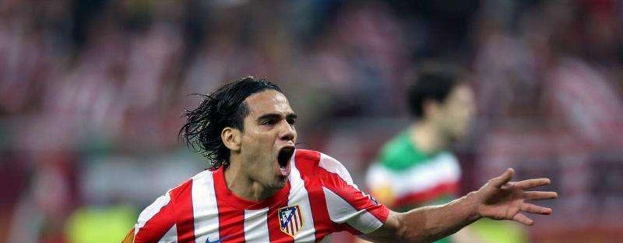 Falcao marcó dos de los tres goles en la final de la Europa League entre el Atlético de Madrid y el Athletic de Bilbao