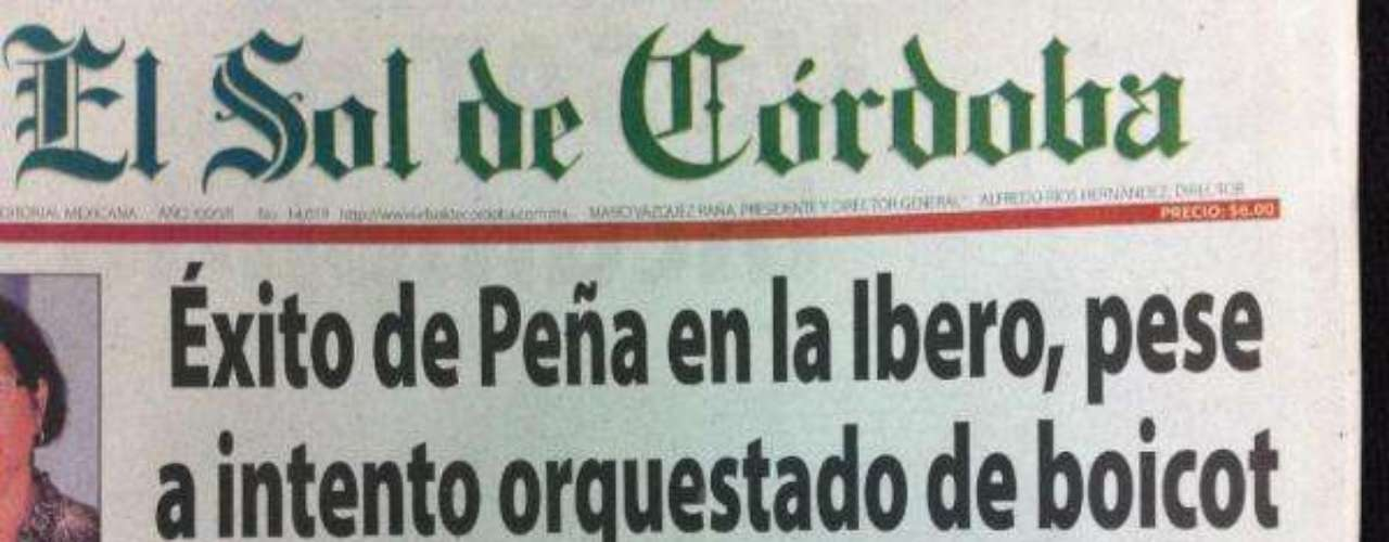 El Diario de Córdoba es otro de los diarios que titulan: Éxito de Peña en la Ibero pese a intento orquestado de boicot.