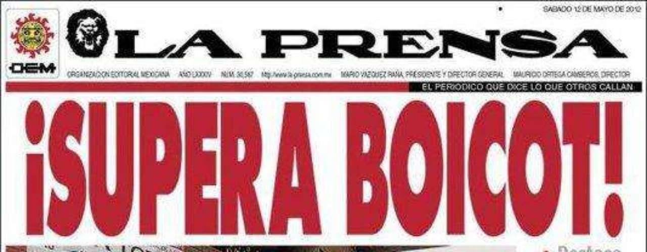 El Diario 'La Prensa' es uno de mayor circulación en el país. El tuitero @SoDanzz escribió: 'Mario Vazquez Raña, dueño de la prensa, ganándose las croquetas...'