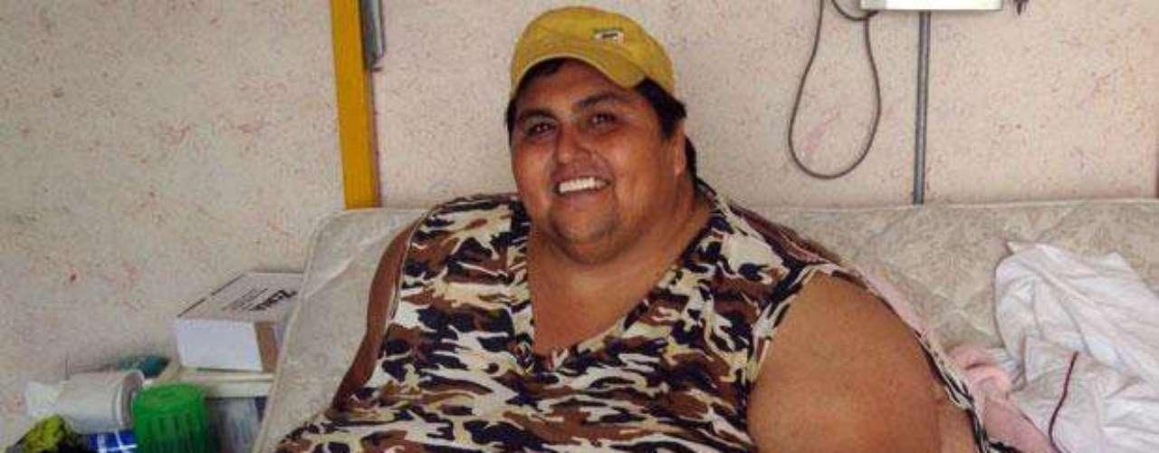 Manuel Uribe Garza, nombrado el hombre más obeso por el Guinness World Records, vive al lado de su madre en su domicilio de San Nicolás de los Garza, Nuevo León, México.