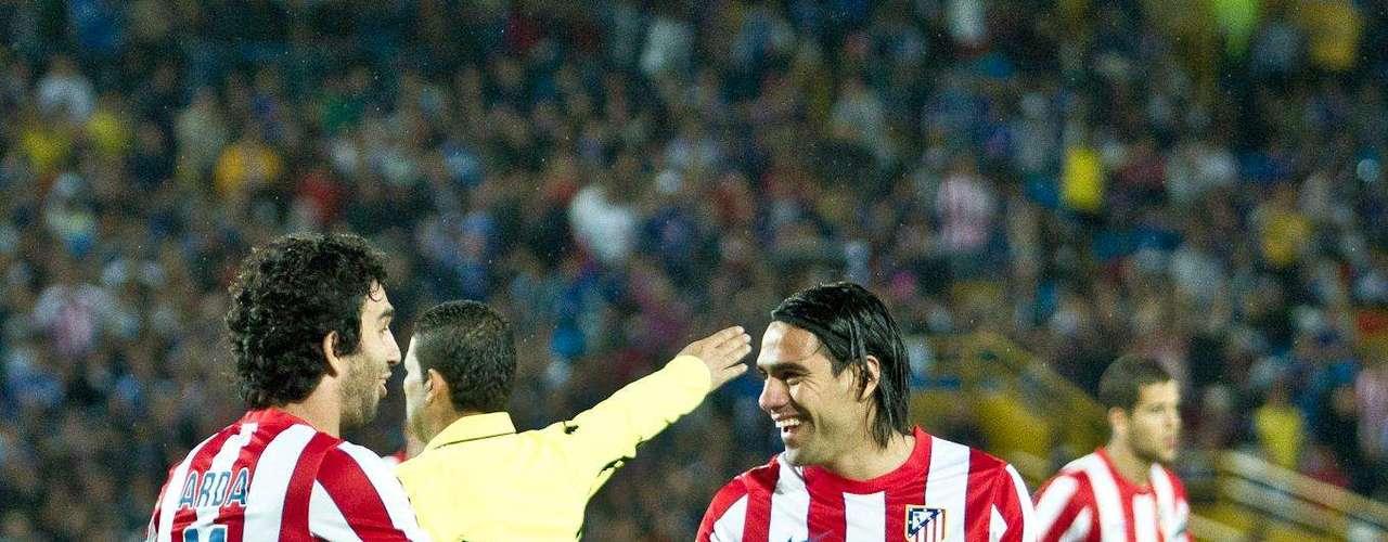 Falcao celebra el golazo que le marcó a Ramos en El Campín