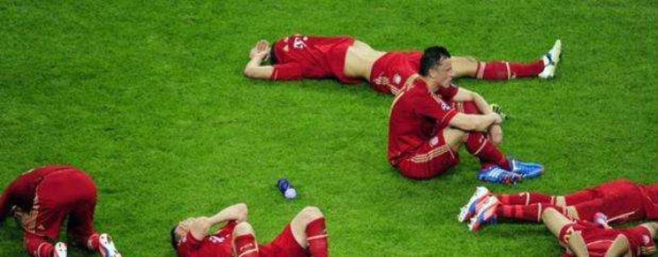 Una imagen que quedará ya para la historia, pues de nuevo el Bayern cayó en una final de Champions. La última vez que sucumbió fue  hace dos años ante el Inter.