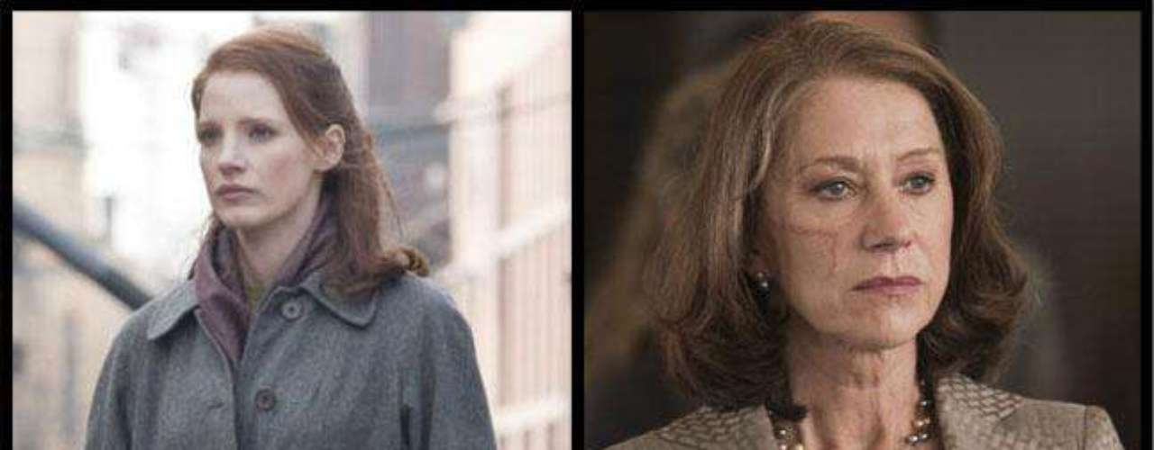 Las actrices Jessica Chastain y Helen Mirren interpretan a Rachel Singer en 'The Debt'