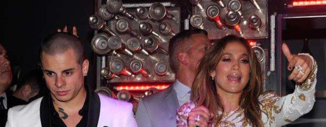J. Lo y Casper se divirtieron hasta más no poder.