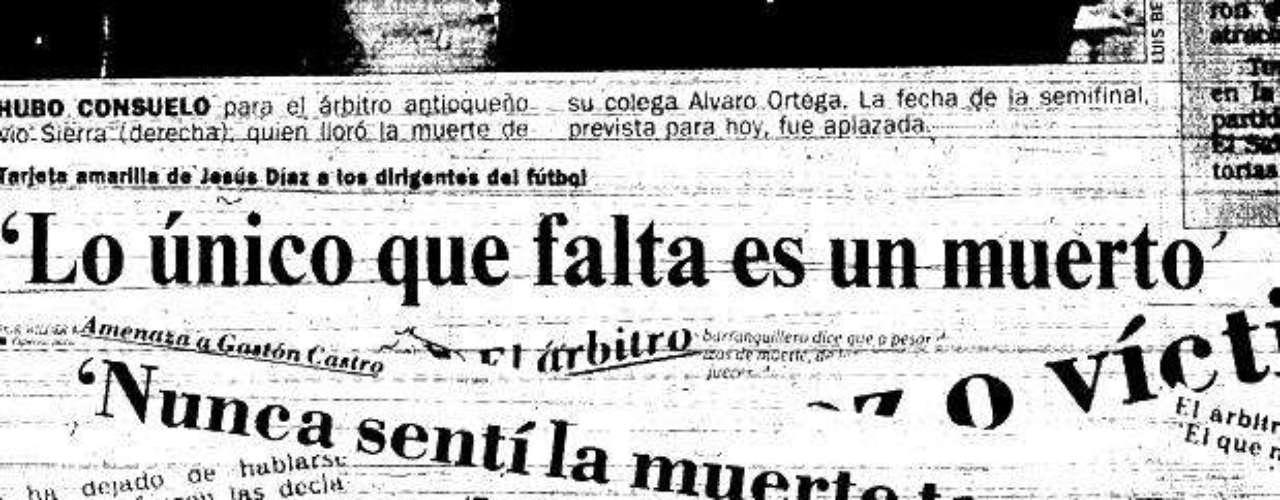 Las principales denuncias de esa época fueron filtradas y tomadas por los diarios del país, la inseguridad rondaba en Colombia y el fútbol ya estaba implicado