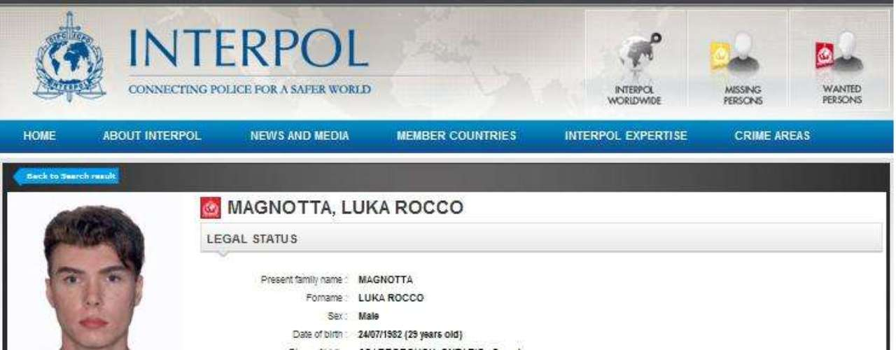 Las autoridades canadienses se pusieron en contacto con Interpol que puso a sus más experimentados sabuesos tras los pasos de Magnotta, quien se suponía estaba en algún país europeo.