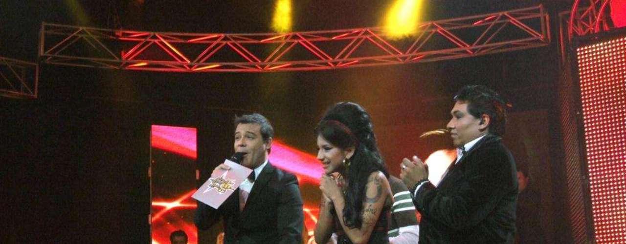 El momento de la primera eliminación, cuando por número de votos es eliminada Ani Rodríguez, la Amy Winehouse Peruana.