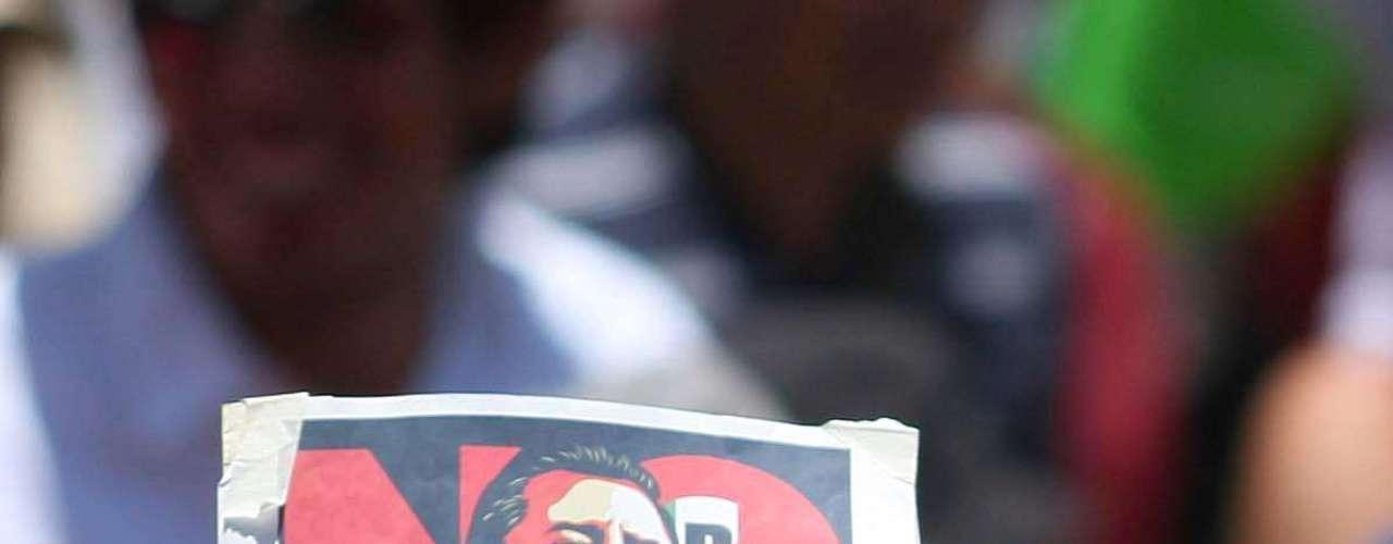 Los manifestantes se valieron de toda clase de artilugios para expresar su rechazo a Peña Nieto.