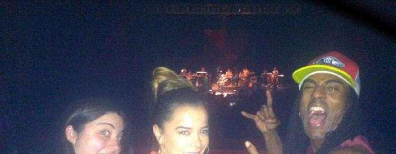Disfrutando un concierto de Ziggy Marley.