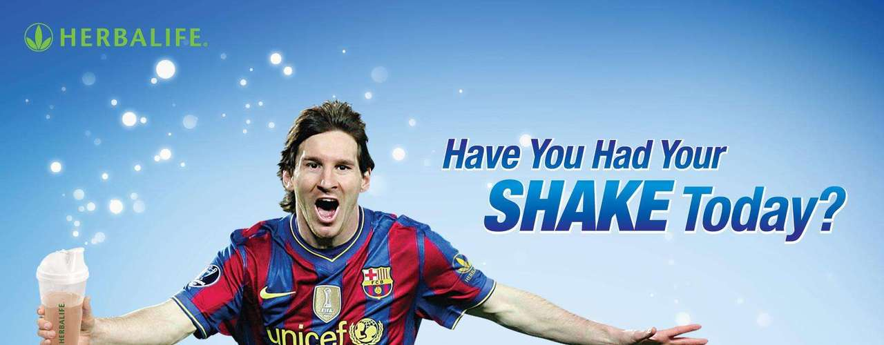 Also partnering with his foundation, Lionel Messi has been a sponsor for Herbalife since 2010 as one of their main spokespeople with proceeds from the company going to his foundation.