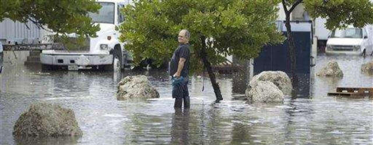 El agua es otro de los factores que están haciendo destrozos en la nación. Debido a la tormenta tropical Debby, la zona de Florida está recibiendo lluvias torrenciales y Clearwater Beach, por ejemplo, está literalmente bajo el agua. Pero parece que lo peor aún no pasó, porque Debby se encontraba esta noche a unos 100 kilómetros de la desembocadura del río Mississippi y se presume que tocará tierra el jueves.