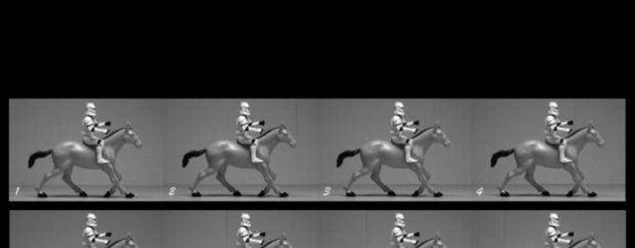 'Trooper galopando', basada en la película 'Caballo galopando', del pionero del cine Eadweard Muybridge.