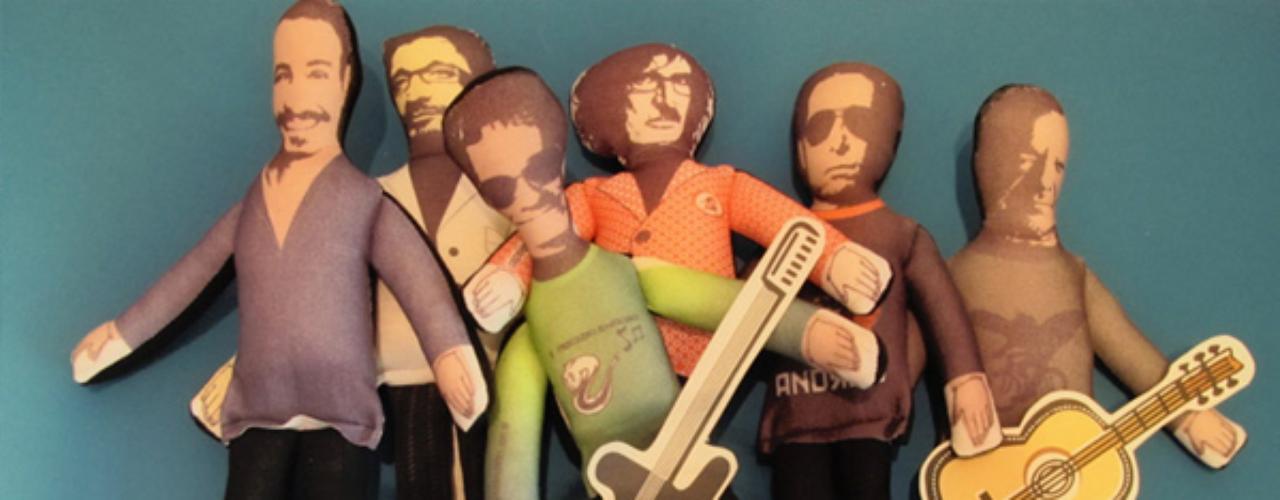 Maradona, Olmedo, San Martín, Charly García, Fito Páez, Luis Alberto Spinetta y Mercedes Sosa, son otros de los íconos argentinos 'hechos' muñecos.