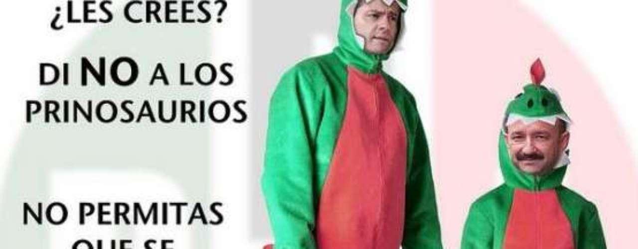 Al PRI le llaman dinosaurio en México.