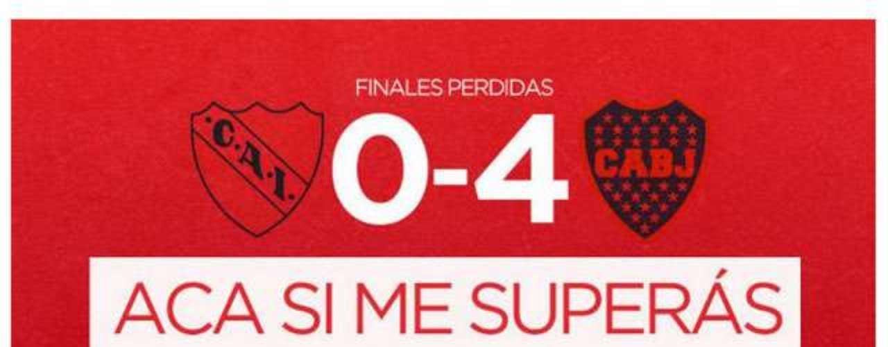 Los hinchas del Rojo, con pocas vicotrias propias para festejar, se rién de Boca. No es para menos, sigue siendo el único equipo en ganar siete Libertadores.