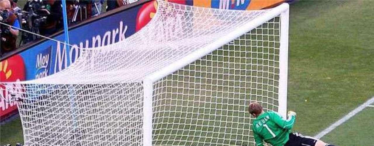 Gol fantasma de Lampard en el Mundial 2010 en el partido Alemania-Inglatera