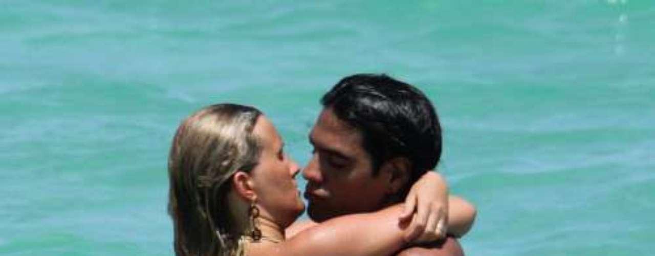 Falcao y su chica, en las playas de Miami.