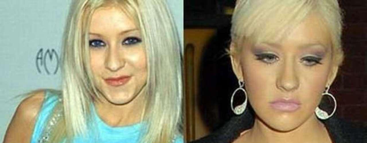 Christina Aguilera aumentó el tamaño de su \