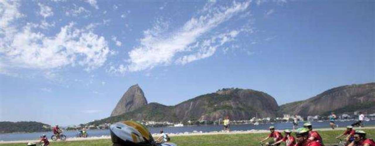 Durante el World Bike Tour de Río de Janeiro .