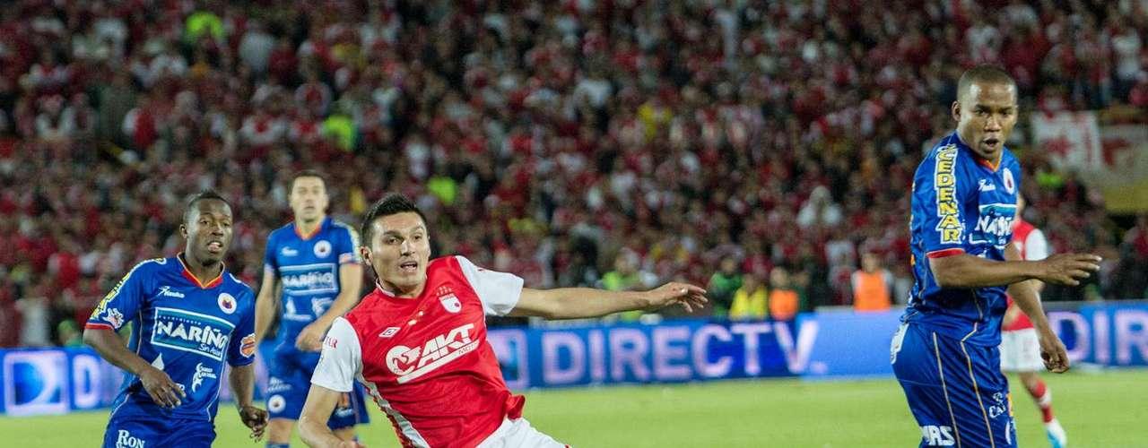 Independiente Santa Fe y Deportivo Pasto brindaron un buen espectáculo a los más de 38 mil espectadores que asisteron a EL Campín