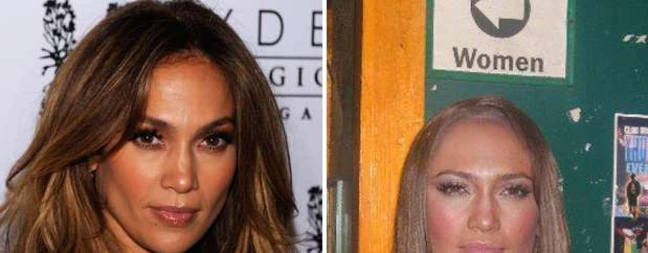 Aunque se reconoce fácilmente que se trata de la cantante Jennifer Lopez, Hiltron a un lado su bella apariencia.