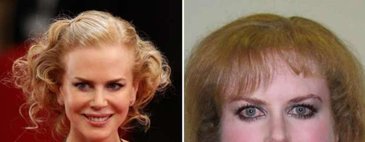 Nicole Kidman - Estas celebridades tienen todo el potencial para ser bellos pero la página en facebook Planet Hiltron ha encontrado la manera de bajarlos de su pedestal y revelar su identidad si no fueran famosos, sin los millones para tratamientos, estilistas ni la disciplina del ejercicio y la buena alimentación. ¿Cuál es tu transformación favorita?