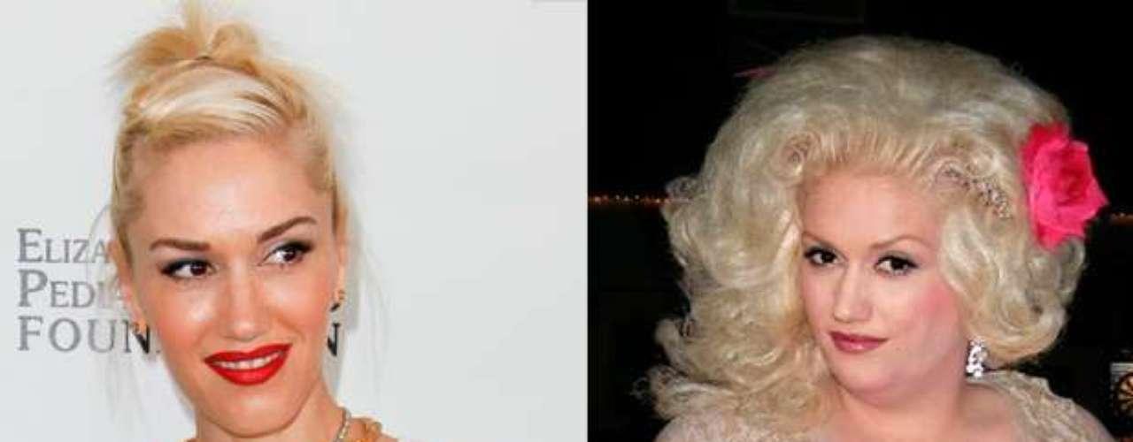 No sólo el cambio de imagen de Gwen Stefani es evidente en la publicación de Hiltron, también sus kilos de más.