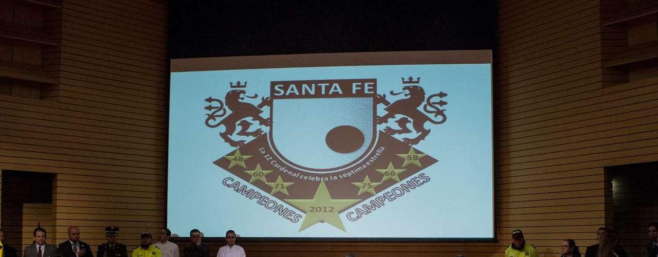 La nómina de Santa Fe estuvo presente en el Palacio de Liévano.