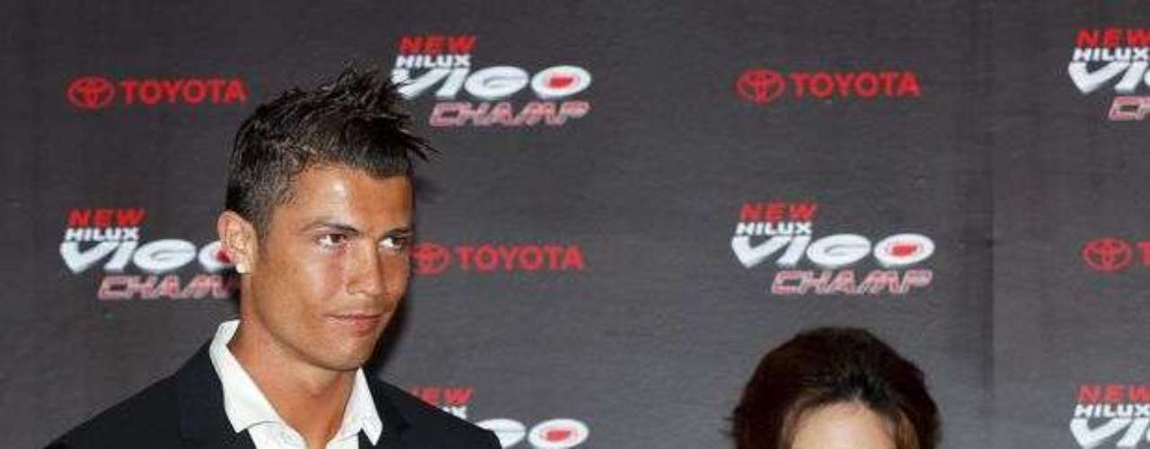 Over 300 journalists were present for the unveiling as the Portuguese star renewed his commitment to the brand.