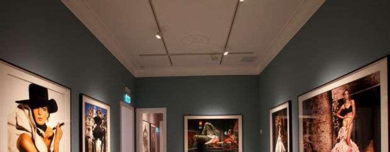 Los interiores de MATE durante la exhibición de la muestra \