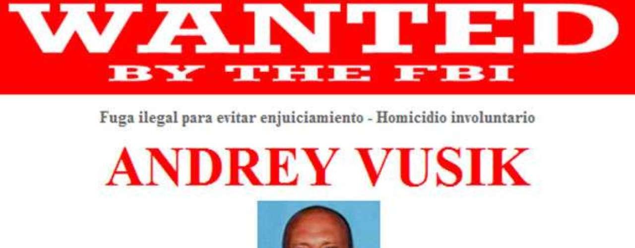 Andrey Vusik es buscado por su presunta participación en el homicidio involuntario de un hombre en un parque de Sacramento, California, el 1 de julio de 2007. Vusik es un extranjero residente legal de los Estados Unidos. Es posible que haya viajado a Moscú, Rusia o Ucrania.