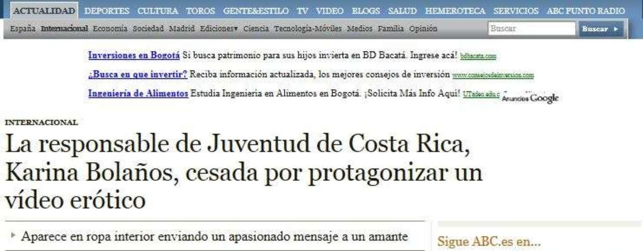 ABC de España destaca en su artículo una frase que aparece en el polémico video \