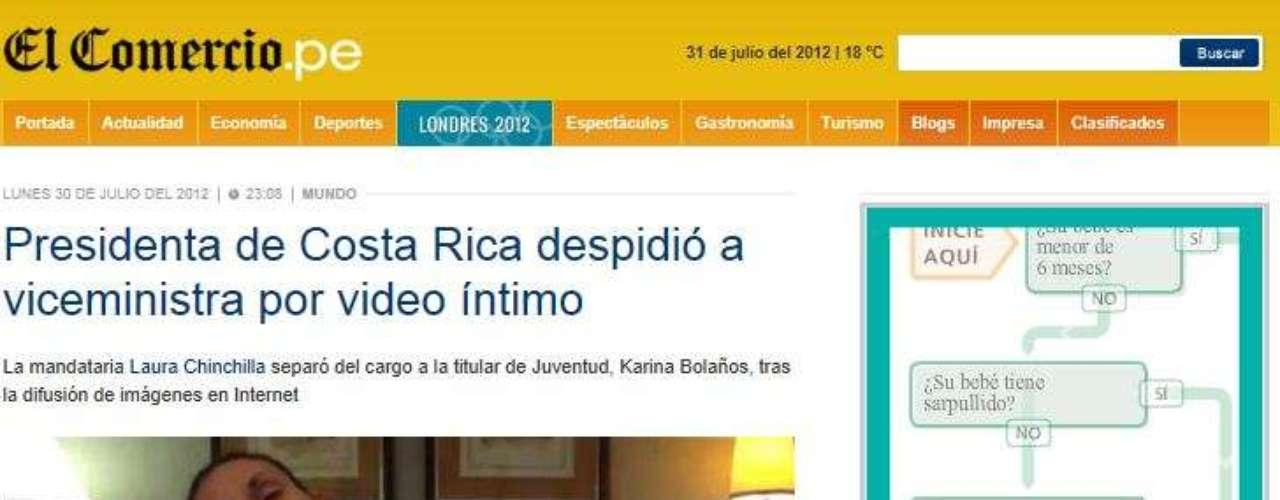 El diario digital, El Comercio de Perú, dio a conocer que Bolaños enfrenta al parecer una denuncia por acoso, pero no reveló el nombre del querellante, quien habría pedido incluso medidas de protección. Sin emabargo esta información no ha sido confirmada por fuentes oficiales.