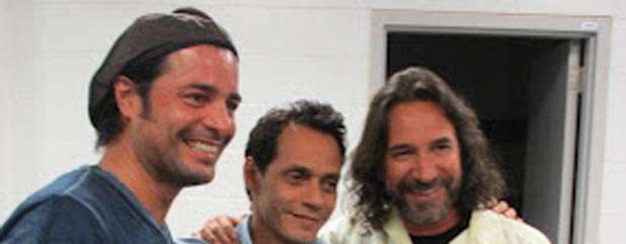 Marco Antonio Solís, Marc Anthony y Chayanne ensayan antes de iniciar, la gira \