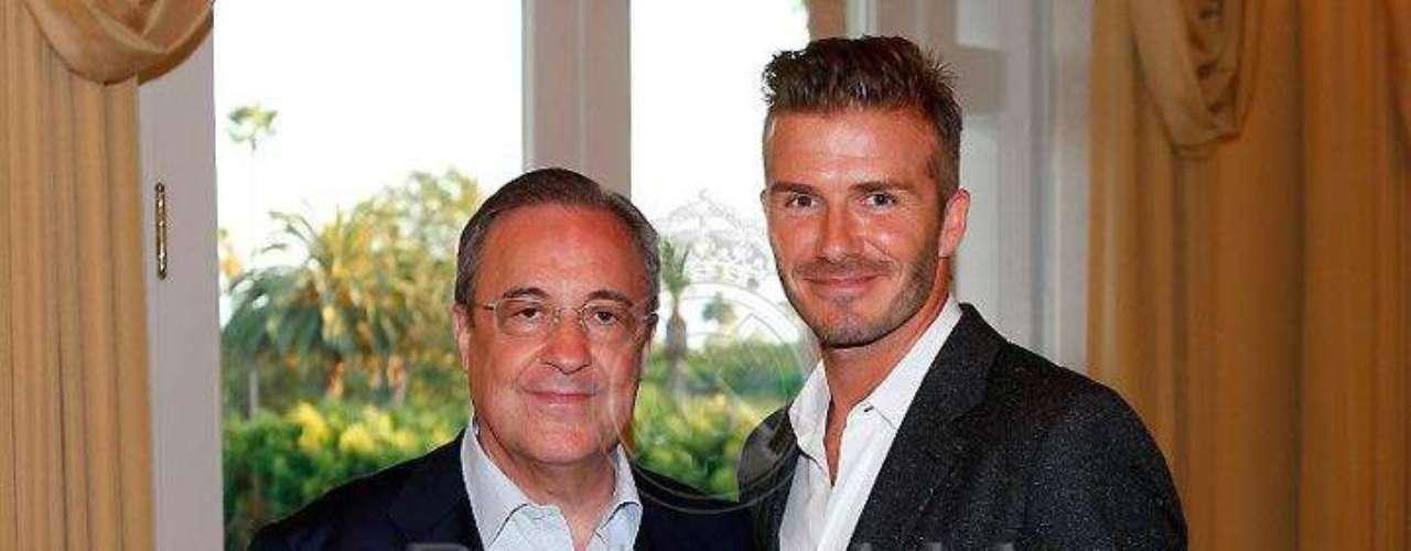 La visita de David Beckham a sus ex compañeros del Real Madrid previo al choque con Los Ángeles Galaxy