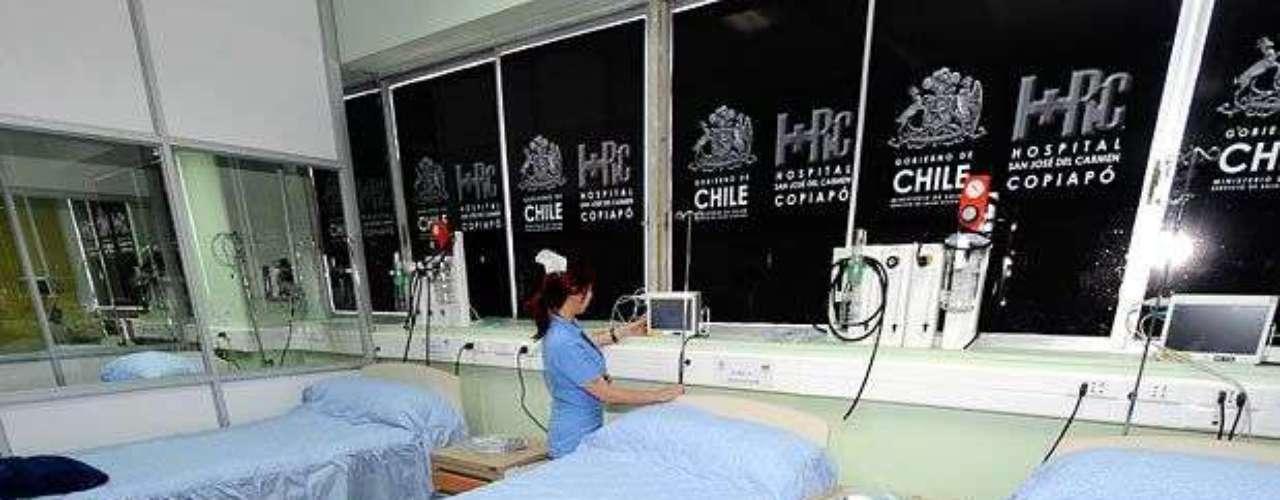 En estas camas quedaron los mineros internados a su llegada al Hospital de Copiapó