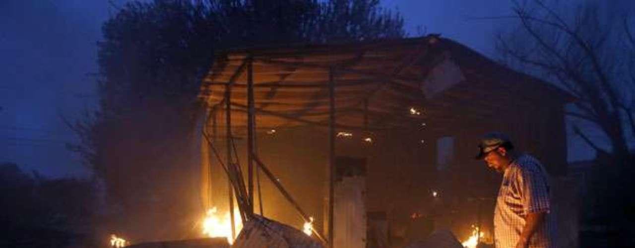 Un incendio en las inmediaciones de Tulsa acabó con unas 40 estructuras.