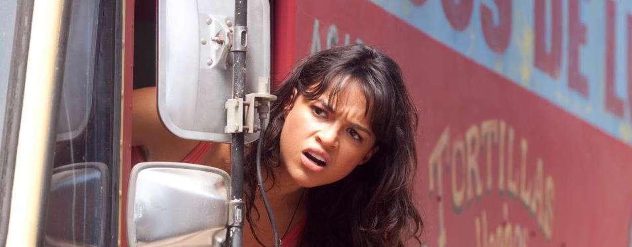 Michelle Rodriguez es otra de ls mujeres recurrentes en las cintas de Robert. Michelle en 'Machete'