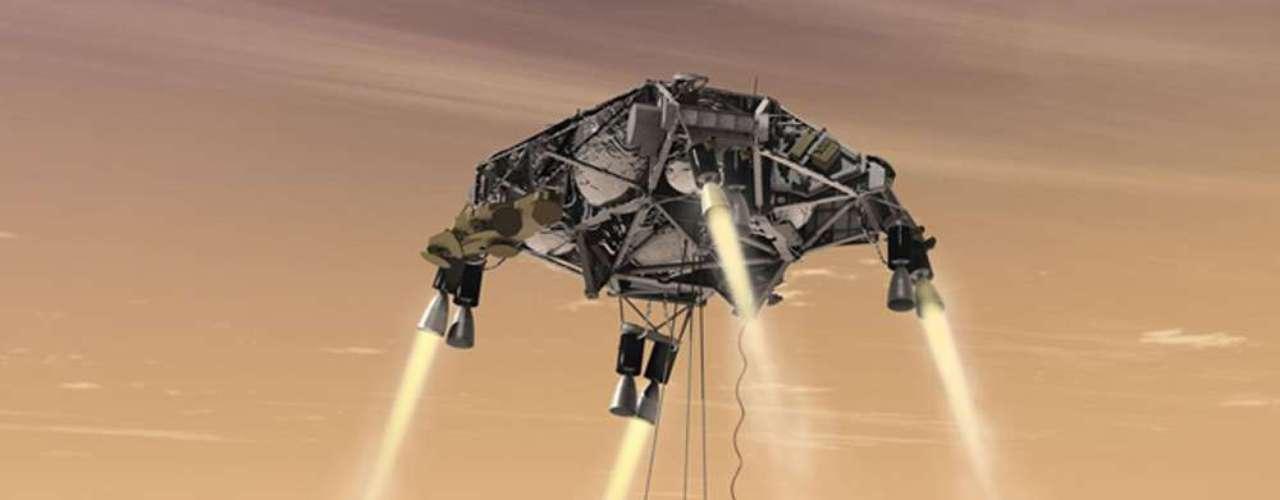 Una simulación muestra cómo se amortiguó el posible impacto en la superficie marciana durante el descenso de Curiosity.