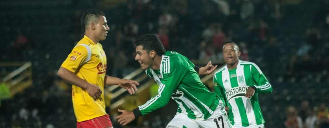 Nacional abrió el marcador por intermedio de duque, en la parte final del primer tiempo.