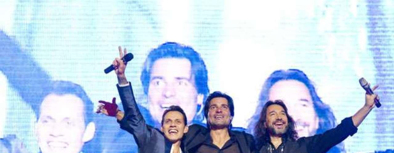 Tanta es la conexión que tienen Marc Anthony, Chayanne y Marco Antonio Solís, que a lo largo de la presentación de \