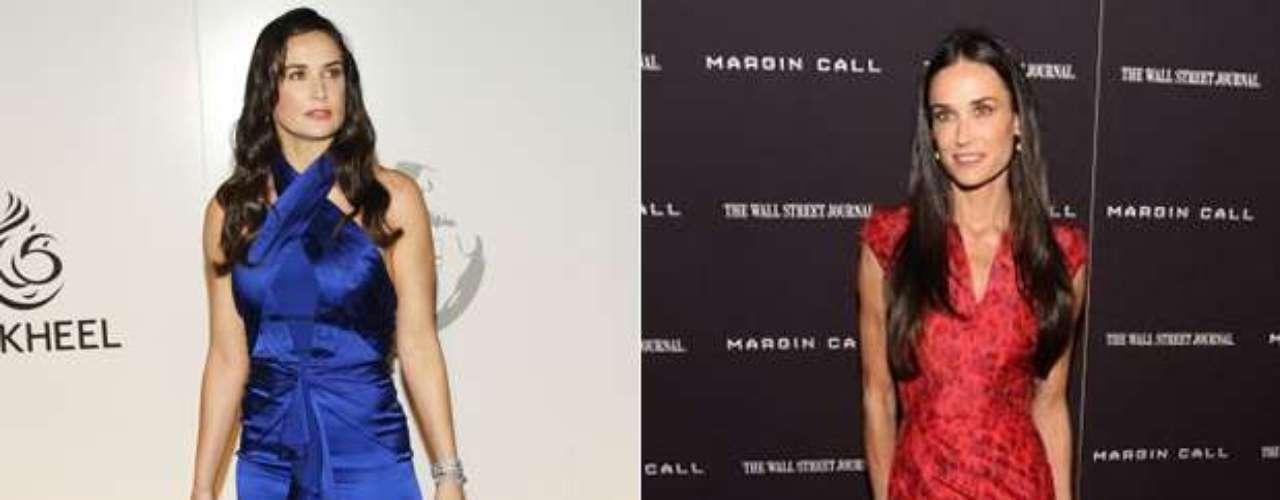 Tras su divorcio con Ashton Kutcher, la reconocida actriz Demi Moore apareció  con un aspecto bastante diferente al que solía lucir.