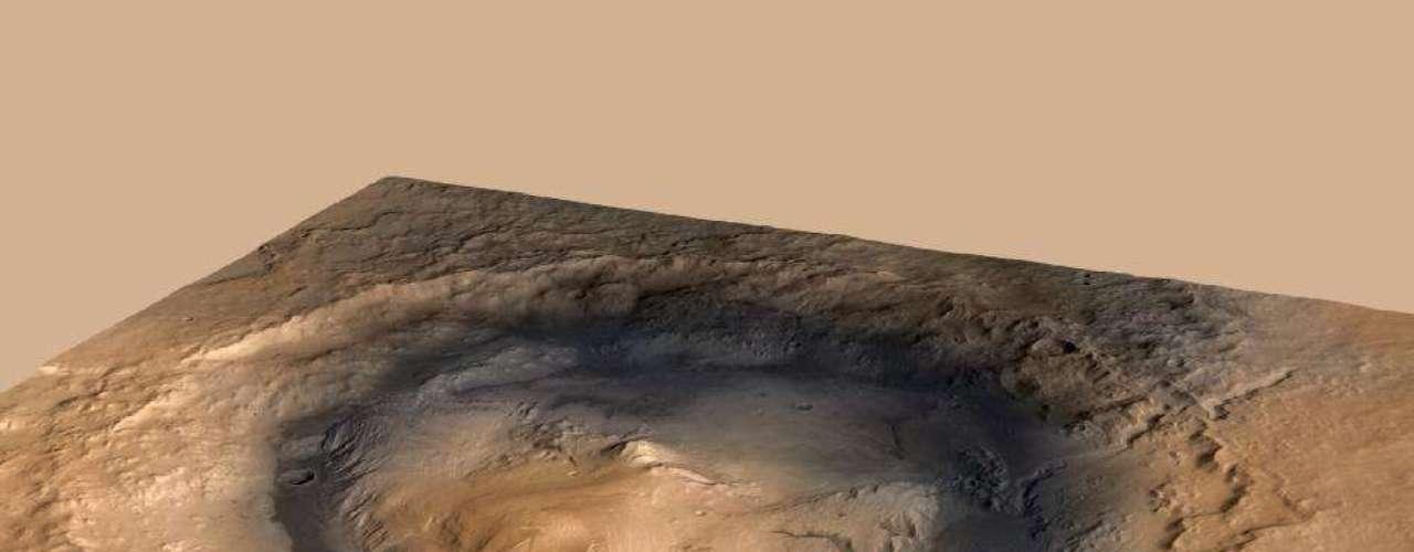 Esta foto a color del rover de Curiosity de la Nasa muestra la superficie de Marte y  fue tomada por el Centro de Imágenes de Alta Resolución de la Ciencia (Hirise). En está imagen los colores se han mejorado para mostrar las sutiles variaciones, que resultan de los diferentes tipos de materiales.