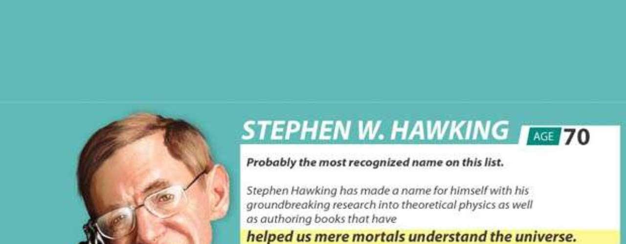 El científico británico Stephen Hawking, de 70 años, es una de las mentes más brillantes de la humanidad. Tiene un IQ de 160 y es un estudioso de los agujeros negros y la teoría del Bing-Bang. Fue nombrado profesor de física gravitacional de Cambridge. En esa institución obtuvo la cátedra Lucasiana de matemáticas, la misma que ocupó Isaac Newton.