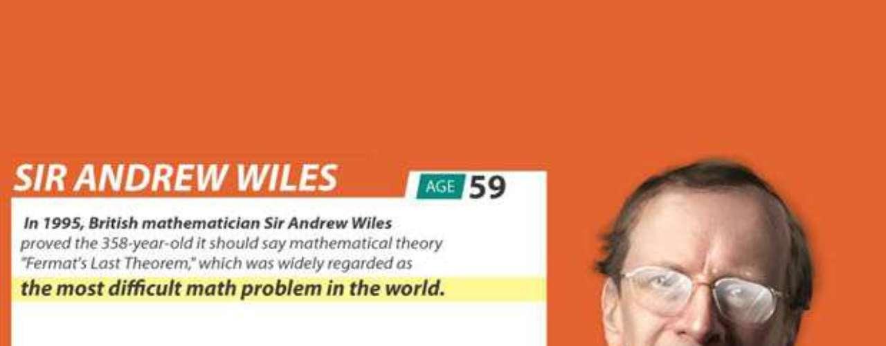 Sir Andrew Wiles, de 59 años, es uno de los matemáticos más prestigiosos, sobre todo, porque fue capaz de resolver el 'Último Teorema de Fermat', considerado el más complejo de la historia. Su IQ es de 170.