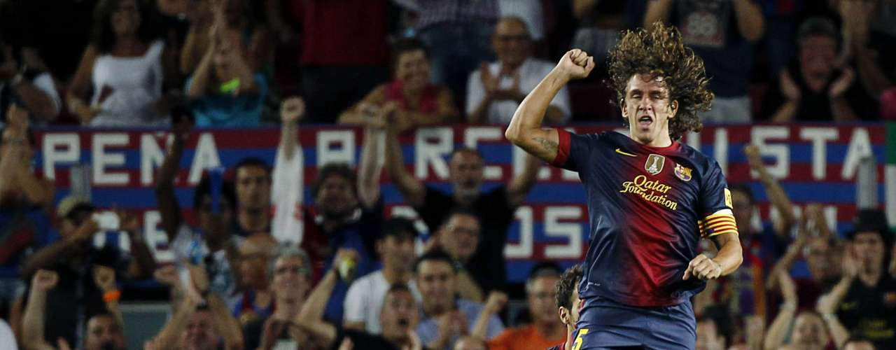 Carles Puyol scored Barcelona's first goal.