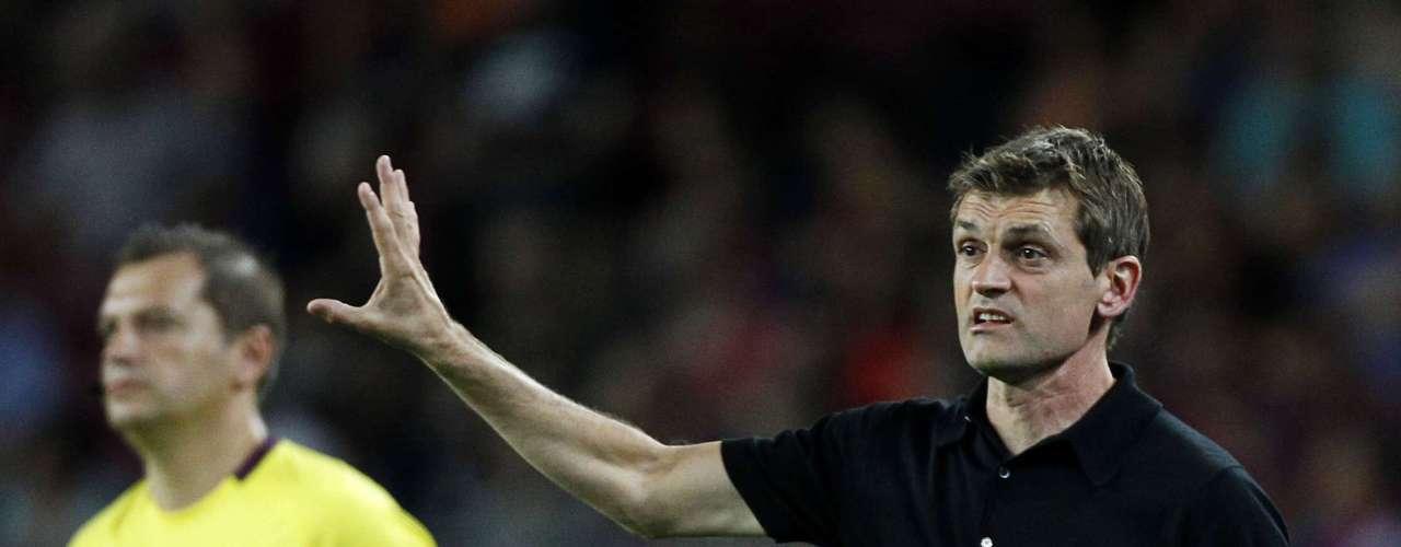 It was Tito Vilanova's competitive debut as Barcelona coach.