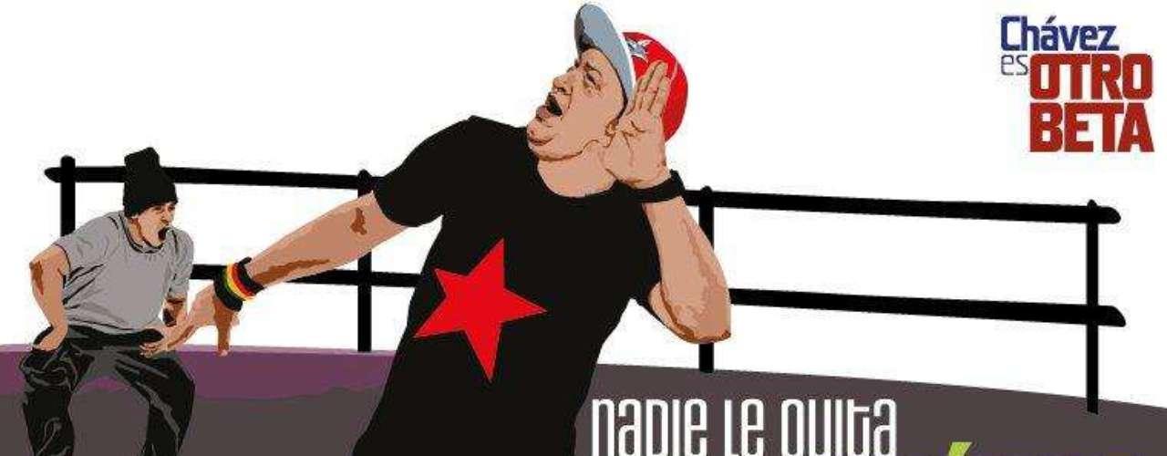 La imagen de Chávez aparece con frecuencia en las murales y vallas de Venezuela, sin embargo es la primera vez que se lo muestra joven.