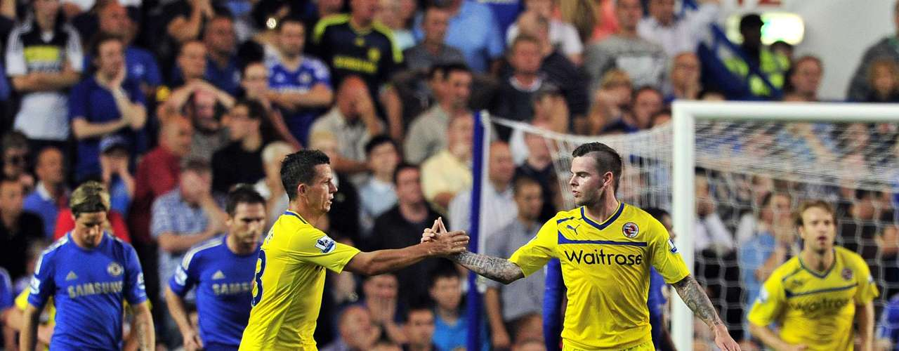 The Stamford Bridge faithful were further shocked when Reading took the lead thanks to a free kick from Danny Guthrie.